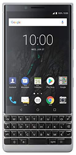BlackBerry Key2 Single SIM Smartphone (4,5 Zoll Display, 12 Megapixel Kamera, LTE, 6 GB RAM, 64 GB Speicher, Quick Charge 3.0, Android 8.1 Oreo) Silber - Se Ram Speicher