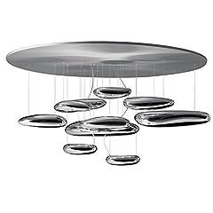 Idea Regalo - Artemide Mercury Lampada da Soffitto, LED, 29 watts, 2700°K, Cromo/Acciaio