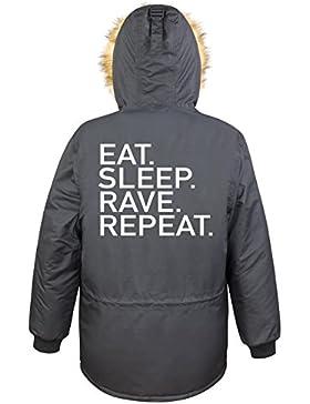 Eat Sleep Rave Repeat Parka Girls Nero Certified Freak