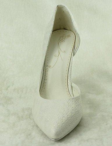 ShangYi Schuh Damen - Hochzeitsschuhe - D'Orsay und Zweiteiler / Spitzschuh - High Heels - Hochzeit / Kleid / Party & Festivität - Weiß 4in