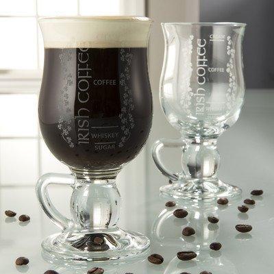 Belleek Pottery Galway Crystal Irish Coffee Glasses, 5.7-Inch, Clear, Set of 2 by Belleek Pottery Irish Pottery