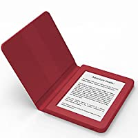 BOOKEEN Saga Red - Ereader E-Ink FrontLight 8GB with embedded silicone smartcover