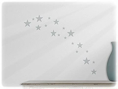 wallfactory - wall decal - 19 practical Stars (St4xs) in