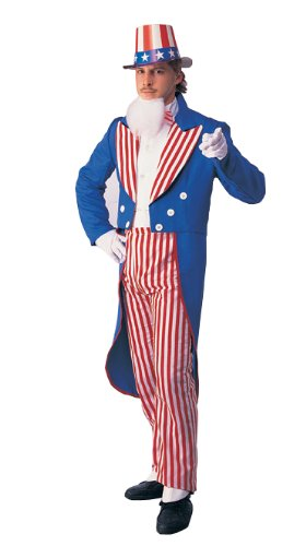 Rubies Costume Co R992-L Uncle Sam Erwachsene Gr--e (Sam Uncle Maske)