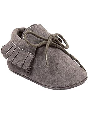 Minuya Säugling Kleinkind Neugeborenes Baby Mädchen Weiche Sohle Quaste Mokassin Krippe Schuhe