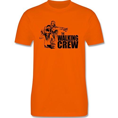 JGA Junggesellenabschied - The Walking Crew - Zombie JGA - Herren Premium T-Shirt Orange