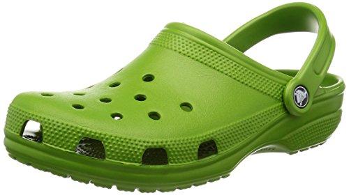 crocs Classic PGr, Unisex-Erwachsene Clogs, Grün (Parrot Green 373), 42/43 EU (8 Erwachsene UK)