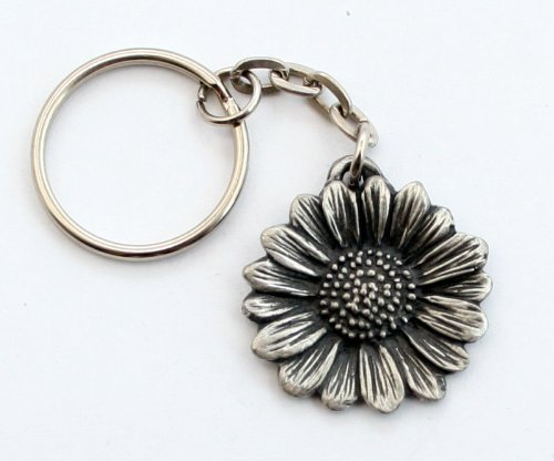 sunflower-key-ring-keychain-in-fine-english-pewter-handmade-h