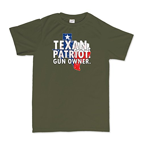 Texan Texas Patriot Gun Owner 4th July Independence Day T-shirt -