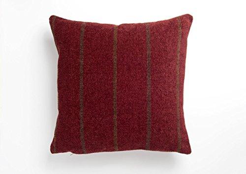 Deep Red Highland Croft Stripe Cushion Cover