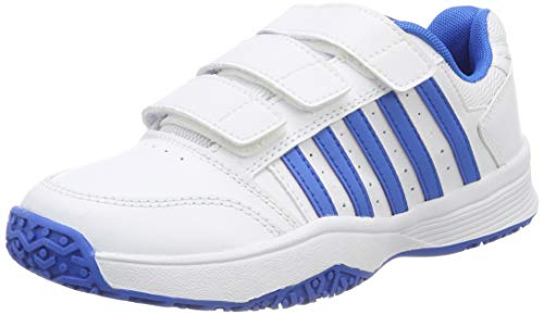 K-Swiss Performance Unisex-Kinder Court Smash Strap Omni Tennisschuhe, Weiß (White/Brilliant Blue 128M), 35 EU