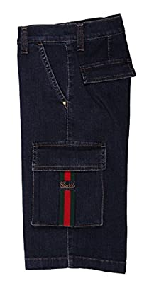 GUCCI Boys Jeans shorts dark blue 281271-4020