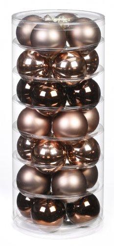 Inge-glas 15101D003 Kugel 60 mm, 28-Stück/Dose, Elegant Lounge-Mix