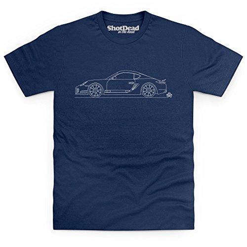 PistonHeads German 2-Door Coupe T-Shirt, Herren, Dunkelblau, - Zeigt Porsche Design