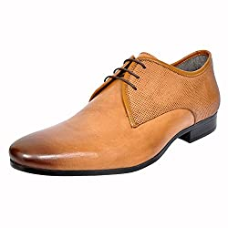 Allen Cooper Mens Tan Leather Derby Shoes - 8 UK