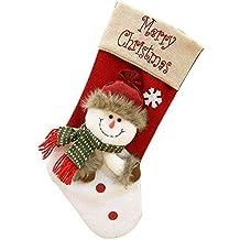 guobin Navidad CalcetíN DecoracióN De Hogar Botas Bolsillo CalcetíN De TartáN De Felpa Roja Para AñO