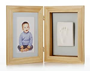 tiny ideas 91410 desktop frame bilderrahmen zum aufstellen f r ein foto und baby abdruck. Black Bedroom Furniture Sets. Home Design Ideas