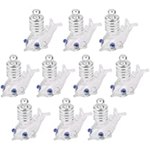 10 Tarros De La Botella De Cristal De Mini Viales Botella Colgante De Joyeria De Bricolaje La Forma De Pescado