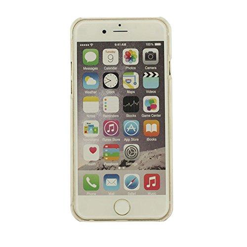 Pour Apple iPhone 6S Plus 5.5 inch Coque Liquide Eau Style, Transparente Dur iPhone 6 Plus Coque Très mince Étui, Créatif Sablier Forme La natation Dauphin Désign Coque avec 1 Silicone Kickstand color-1