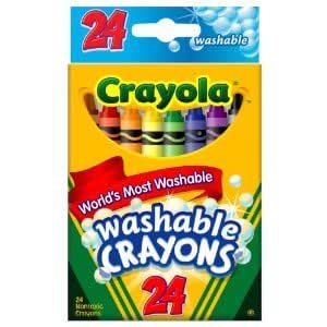 Crayola 24ct Washable Crayons w/ Convenient Small Package In Reusable Tuck Box For Creative Coloring Jouets, Jeux, Enfant, Peu
