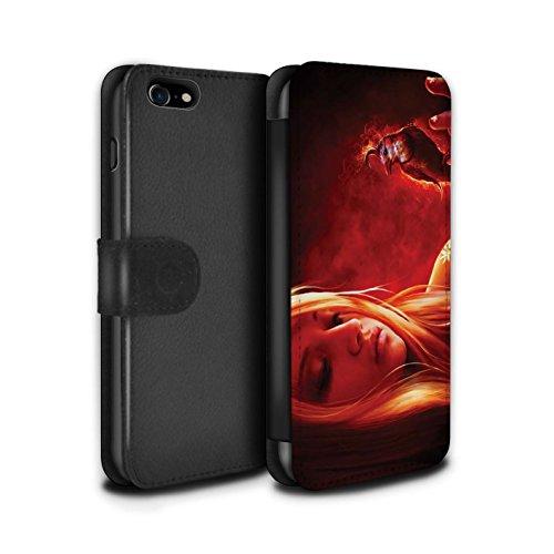 Officiel Elena Dudina Coque/Etui/Housse Cuir PU Case/Cover pour Apple iPhone 8 / Pack 18pcs Design / Les Oiseaux Collection Balise/Lueur