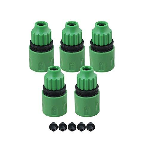Yibuy Lot de 5 adaptateurs de micro-irrigation en plastique pour robinet d'extérieur et tuyau d'arrosage