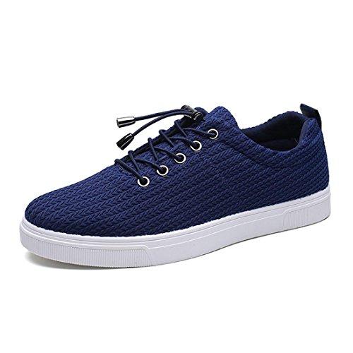Respirant Hommes Toile Chaussures Baskets Trainers Chaussures Décontractées Baskets Léger Confortable Euro Taille 39-44 Bleu