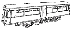 Dapol Model Railway Railbus Plastic Kit - OO Scale 1/76
