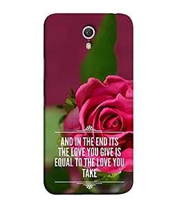 PrintVisa Designer Back Case Cover for Lenovo Zuk Z1 (love you give equal take)