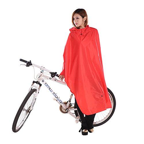 Hommes Et Femmes Mode Montagne Vélo Simple Raincoat Riding Poncho Student Bicycle Raincoat ( couleur : Rouge ) Rouge