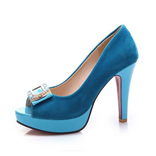 Adee Femme Strass High-Heels givré Sandales Bleu - Bleu foncé