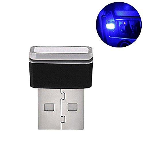 1 Pezzi USB Car Interior Ambient Lampade a Led,Auto Luci Interne Atmosfera Luce Decorativa USB Illuminazione,Mini USB Interni Auto Luce Led Universale Per Auto Notebook Power Bank (Blue)