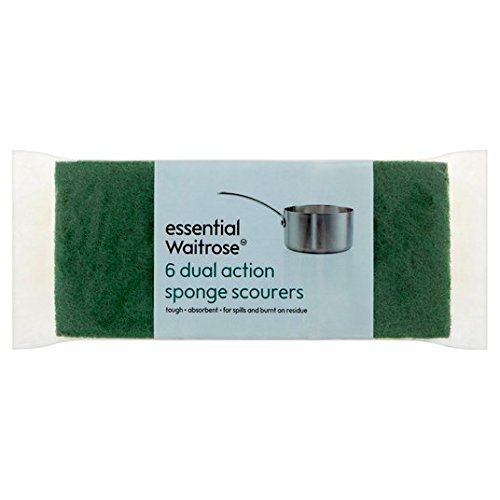 doble-accion-esponja-estropajos-esenciales-waitrose-6-por-paquete
