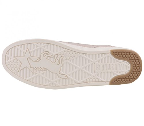 Mustang 1246-502 Womens Lace-Up Flats Beige