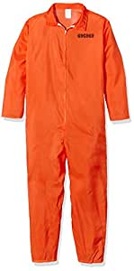 County Jail Inmate Costume Small for Prisoner Convict Jail Fancy Dress