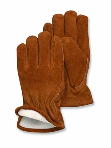 Magid TB440ET-L Men's Pro Grade Collection Foam-Lined Suede Gloves, Large by Magid Glove & Safety