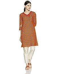 Myx Women's Embroidered Cotton Straight Kurta