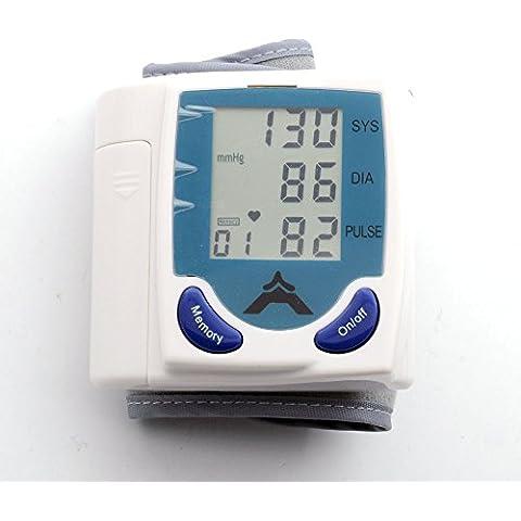 QUMOX Medidor Monitor Digital Salud Muñeca Pulso Presión Arterial Latido Corazón con Memoria