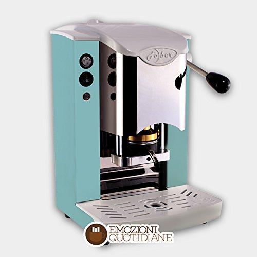 Kaffee Maschine A Waffeln in Papier Ese 44mm FABER Slot Edelstahl Farbe Grün Apfel