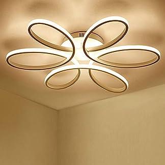 85W LED Plafoniera Creativo Forma di fiore Lampada da soffitto Acrilico Paralume in alluminio Moderno Elegante Bianco opaco Soggiorno camera da letto Illuminazione a soffitto L59cm * H11cm