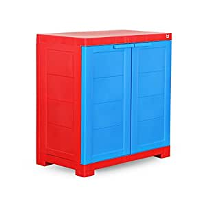Cello Novelty Compact Cupboard - Red and Blue