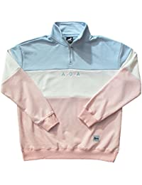 Agora Pastel Qtr Zip Pullover