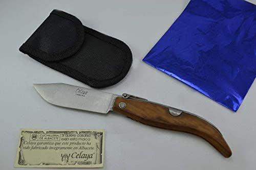 Couteau Celaya Classic Albacete Pastora Bois Olivier 8 cm