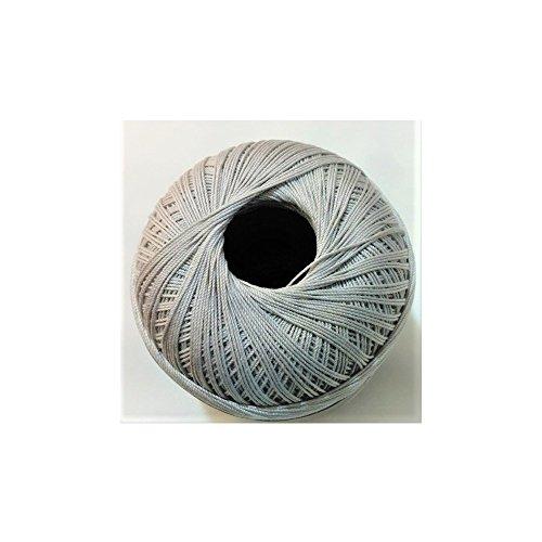 Tomaselli merceria cotone filo di scozia per uncinetto numero 8 gomitolo da 100 grammi - grigio chiaro