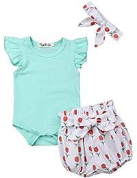 f40f591a592 3 Pièce Ensemble de Vêtements Mignons pour Nouveau-né Toddler Bébé Fille