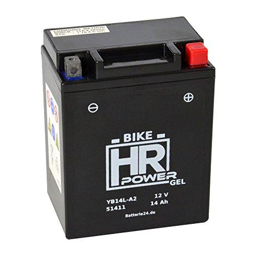 Gel Motorrad Batterie Starterbatterie 12V 14Ah YB14L-A2 51411 wartungsfrei