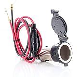 Neuftech Etanche Prise Allume-Cigarette Chargeur Adaptateur câble 12V/24V pour Auto Moto/Voiture / Véhicule