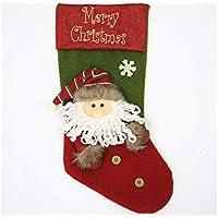 SOPOUITRO Exterior Interior Santa Claus Christmas Stockings Candy Bag Bolsa de Regalo Christmas Tree Pendant (