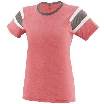 Augusta Sportswear Girls Fanatic Tee S Red/Slate/White -