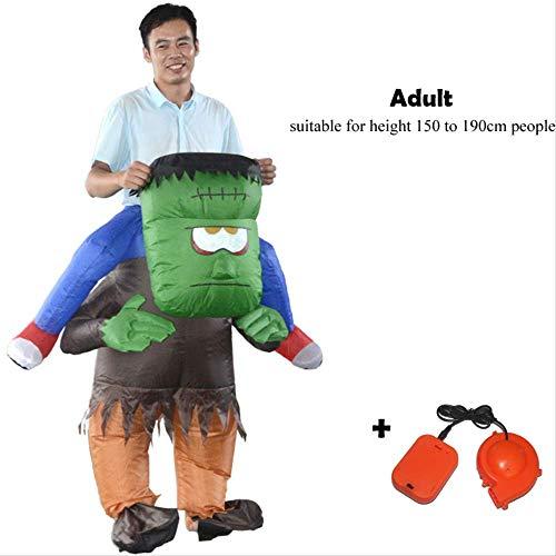 HUKD Aufblasbare Dinosaurier-Kostüme Blowup Unicorn Cosplay Halloween Inflatable Kostümmaskottchen Party-Kostüm für Erwachsene Kinder
